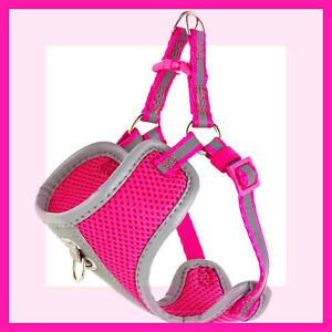 Top Paw Hot Pink Mesh Padded Silver Reflective Dog Harness S