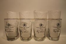 SET OF 4 LIBBEY 1911-1973 TONY HULMAN INDIANAPOLIS 500 BARWARE DRINKING GLASSES.
