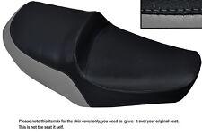 GREY & BLACK CUSTOM FITS YAMAHA XS 650 SE DUAL LEATHER SEAT COVER