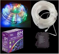 Festive Xmas Lights 80 LED Christmas Rope Lights 8 metres Multicoloured Outdoor