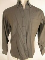 Ermenegildo Zegna Mens Brown Basketweave Long Sleeve Cotton Shirt S Italy Made