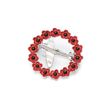 Spitfire in a Poppy Wreath Brooch Pin in a Beautiful Presentation Box P1024
