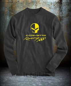 Chevrolet Corvette Racing Jake Skull Logo T-Shirt Long Sleeve