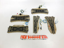CL412-1# 5x Märklin H0/AC Bastler-E-Weiche (M-Gleis): 5128+5207+5214+5204 defekt