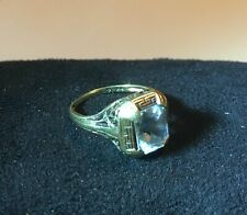 Vintage 14K Gold Women's Decorative Jewel Ring - weighs 2.73 grams