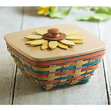 Longaberger 2016 Collector's Club Sunflower Basket set NEW in hand! RETIRED