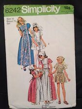 Vintage SIMPLICITY sewing pattern (6242) confirmation dresses age 10