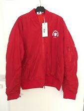 Nicopanda Cub Red bomber jacket, unisex in  Medium