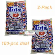 2x50-pc Tutsi Chupa Pop Cherry flavor with gum center Net wt 2-lb -6oz each bag