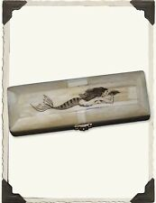 Victorian Trading Co Mermaid Hand Etched Bone Scrimshaw Box NIB