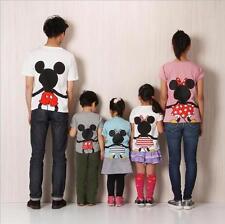 Family Set Tshirt Cartoon Mickey Minnie Daddy Mummy Baby Family Matching Tshirt