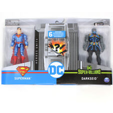 DC Heroes Unite Superman Glossy Blue Suit VS Darkseid by Spin Masters 4 in