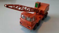 "Matchbox Superkings K-12-B Scammel Crane Truck ""LAING"" orange 1969"