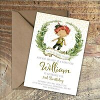 BIRTHDAY INVITATIONS Peter Pan Personalised Child Any Age PK 10