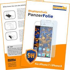 2x mumbi Panzer Folie für Apple iPhone 8 7 Panzerfolie Schutzfolie Displayschutz