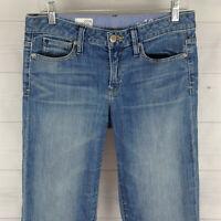 Gap Womens Size 4 x L32 Stretch Blue Medium Wash Detailed Lean Bootcut Jeans