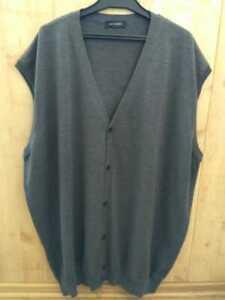 Men's knitted vest Pierre Cardin, size 6XL, 100% wool, original