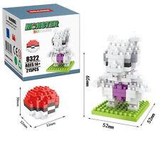 Anime Pokemon Mewtwo Diamond Mini Nano Building Blocks Kids Toy Pocket Monster