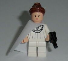 STAR WARS #25 Lego Padme White Outfit w/cape,gun NEW Custom Genuine Lego Parts