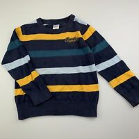 Boys size 3, Target, striped knitted cotton sweater / jumper, GUC