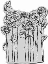 Stampendous 4 X 6 Inch Cling Rubber Stamp Sheet Ranunculus Field