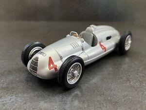 1:43 MINICHAMPS AUTO UNION TYP D 1938-39 Silver #4 Model Car *RARE*