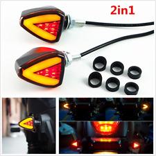 2in1 Dual Colors Motorcycle LED Turn Signal Indicator Blinker Light & Brake Lamp