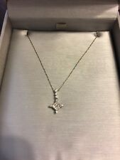 Zales Matching Diamond Necklace And Earrings Set 14kt Gold Christmas Gift