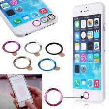 Nuevo Metal Botón Home Anillo Círculo cubierta Sticker Skin Para Apple Iphone 5s 6 6plus