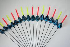 HANDMADE BOLOGNESE POLE FISHING FLOATS - RIZOV RF70A - 15 PCS. - 5 x 2/3/4 GRAMS