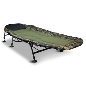Abode Camo Fleece Topped Carp Fishing Camping Bedchair