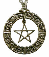Real Metal Jewelry	Zodiac Pentacle Necklace