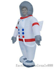 Adult Cosplay Spaceman Mascot Costume Inflatable Astronaut Halloween Party Dress