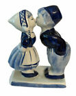 Vintage DELFT Porcelain Figurine Signed Delfts Blauw 520 Romantic Kids Kissing