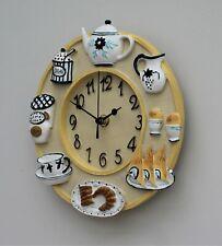 Wall Clock Kitchen School Office Home Shabby Chic Decor Quartz 23cm