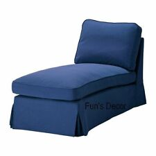 NEW IKEA EKTORP Free Standing Chaise Lounge Cover Slipcover - Idemo Blue