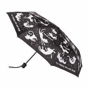Deluxe Mini Maxi Manual Umbrella Cats and Dogs