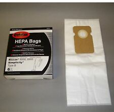 Riccar 8000 & 8900 Series Hepa Filtration Type B Bags 6 Pk Generic Part # A846