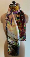 Brand New Gorgeous 100% Pure Silk Large Peacock Feather 65x165 Scarf/Stole