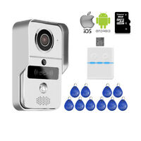 RFID Wireless Wifi Video Door Phone Doorbell Intercom System Remote View Unlock
