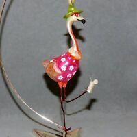 ANTHROPOMORPHIC Christmas Ornament Glass Animal Bird FLAMINGO FLORIDA USA SELLER