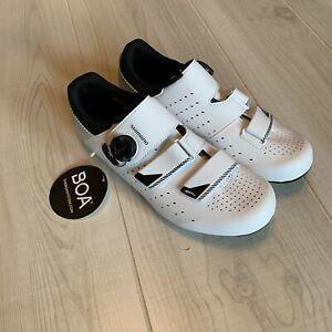 SHIMANO SH-RP400 RP4 BOA Size 42 / US 8.5 Men's Cycling Shoes, White