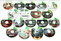 Xbox 360 LOT of 18 Disc Only Games: Call of Duty, Halo, GTA V, Witcher & MORE!