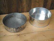 Pair Round Baking Tins One Vintage ? German With Removable Base Kitchenalia