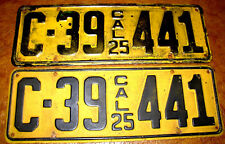 1925 California Plates Hudson Packard Nash Ford Chevrolet Oakland Studebaker Reo
