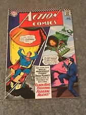 "Action Comics ""Clark Kent Fighting Federal Agent"" MARCH 1967 #348 DC COMICS good"
