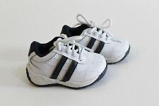 2e30ef41e7b7 OshKosh Leather Athletic Sneakers Shoes Infant Size 2 White Navy Blue