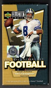 1997 UPPER DECK COLLECTOR'S CHOICE SERIES 1 FOOTBALL COMPLETE OPENED FACTORY SET