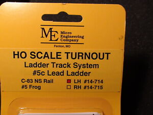 Micro- Engineering #14-714 HO LADDER TRACK SYSTEM TURNOUT LH #5c Code 83
