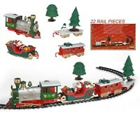 Musical Christmas Train & Carriages Novelty Christmas Tree Train Set Lights